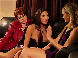 August Ames and Lily Cade cord on bed fucky-fucky