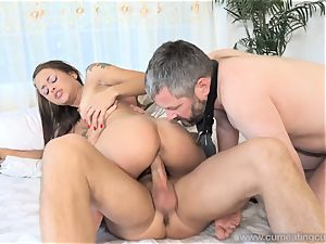 Holly Hendrix Cuckolds spouse and Makes Him gobble jism
