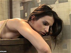 Anna Marie La Sante lezzy disciplined in public wc