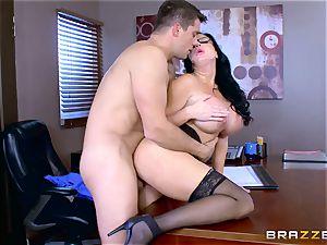 Roman Nomar pulverizes his crazy secretary Sybil Stallone