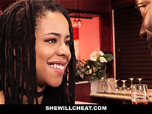 SheWillCheat - cuckold wifey bangs big black cock in bathroom