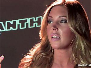 stellar solo scene with light-haired stunner Samantha Saint