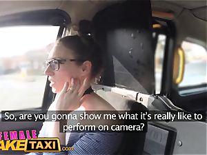 dame fake cab Belgium porn man plumbs jaw-dropping cabbie
