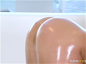 nude oily tearing up with splendid honey Abella Danger