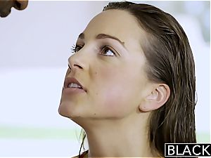 BLACKED very first multiracial for sport Model Abigail Mac