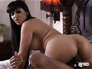 chesty Latina Mercedes Carrera big black cock romped and creamed