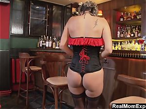 enrapturing milf drains At The Bar
