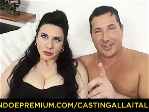 audition ALLA ITALIANA brunette nymphomaniac tough anal orgy