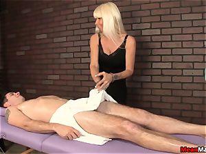 blonde massagist Agrees To trouser snake rubdown On Her Terms
