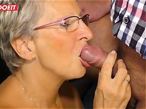 German grannie loves smashing her Neighbor #LETSDOEIT