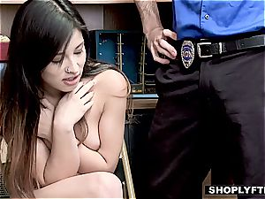 Stealing Latina nubile worker does everything to keep her job