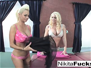 Nikita gets a relieving massage from Leya