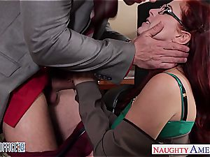 redhead cutie in glasses Penny Pax shag in the office