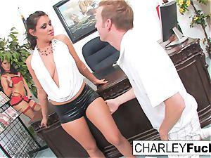 Charley pursue with Mark lollipop on Desk