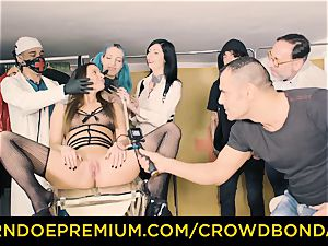 CROWD restrain bondage servant Amirah Adara first time sadism & masochism