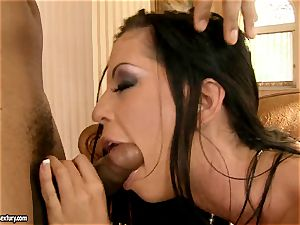 lovely biotch Larissa Dee has a black meaty meatpipe in her extraordinaire hatch