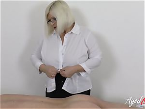 AgedLovE Lacey Starr humping stiff with Soldier