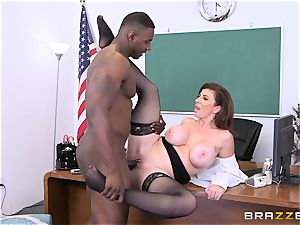 ebony fuck-stick office handle for Sara Jay