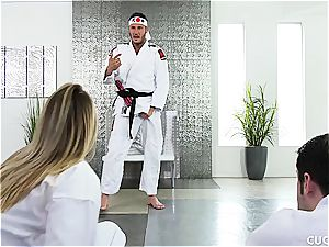 Karate class turns into a hard-core smash