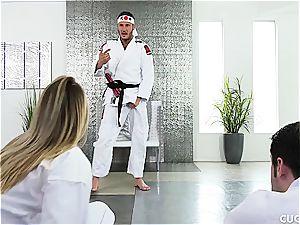 Karate class turns into a hard-core smash