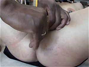 extreme bi-racial deep-throat lesson