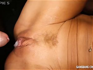 Gilf Gina Gets drilled by a group of guys