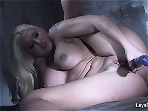 Leya Falcon sticks hook-up playthings in both her fuck-holes
