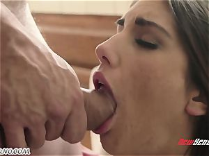 man pummels the wifey of his junior step-brother August Ames
