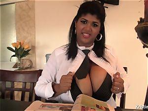 chesty bartender Kristina Milan
