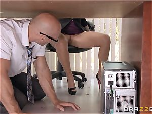chief Lela Starr gets hold of her colleague's thick man rod