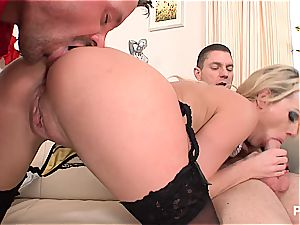 Paige Ashley enjoys getting dual plumbed