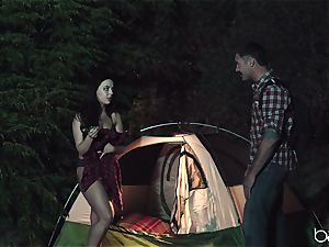 teen slut likes camping and outdoor plowing