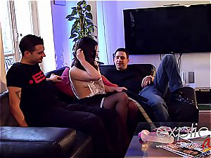 threeway ass-fuck and dp for French stunner