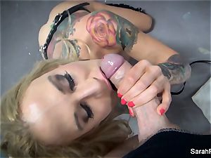 point of view blow-job with blinded mummy Sarah Jessie