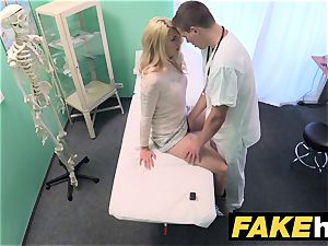 faux clinic muddy doctor gives platinum-blonde Czech babe