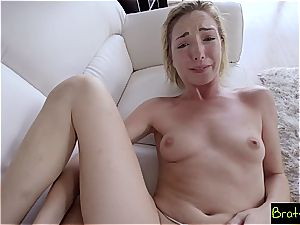 Stepbro accidentally slides his man-meat in his sis cootchie