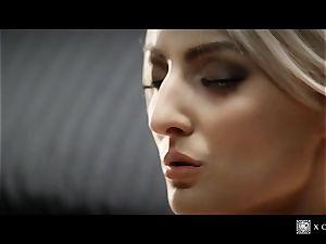 xCHIMERA - glamour hotel apartment smash with platinum-blonde Katy Rose