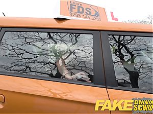 faux Driving college new driver gets a crash course