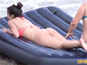 amateur Beach fantastic g-string bathing suit nubile - spycam flick
