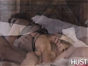 big-boobed Ella Knox predominated with humungous meatpipe cum shot