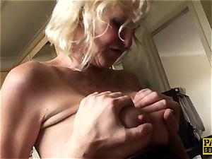 Mature uk victim gets cuffed and dominated over