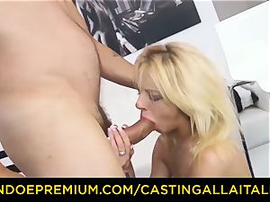 casting ALLA ITALIANA super-steamy ash-blonde rockets in firm ass-fuck