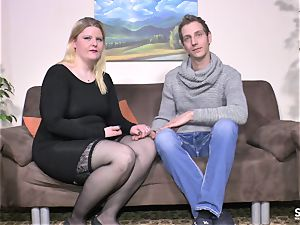SextapeGermany - unexperienced plus-size German gets nailed