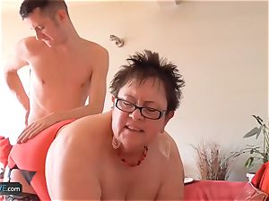 AgedLovE round grandmas hardcore With comfy dudes