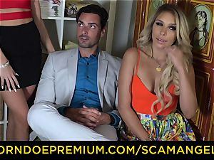 SCAM ANGELS - yankee stunners nail bang dude in red-hot FFM