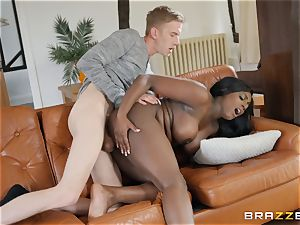 Danny D stuffs his manhood into black ultra-cutie