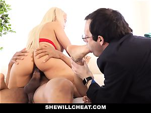 SheWillCheat - Latina wifey Creampied By bbc