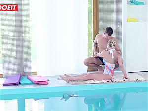 LETSDOEIT - steamy Czech duo Has spunky Pool bang-out