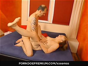 hard-core OMAS - grandma Next Door gets utter geyser in gullet