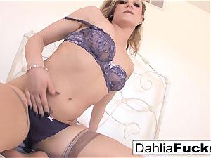 Dahlia gets poked stiff